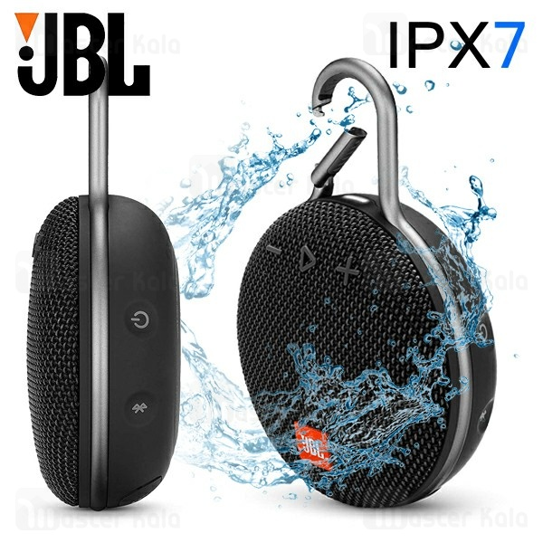 اسپیکر بلوتوث جی بی ال JBL CLIP3 Bluetooth Speaker IPX7 ضد آب