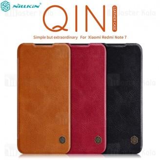 کیف چرمی نیلکین شیائومی Xiaomi Redmi Note 7 / Note 7 Pro Nillkin Qin Leather Case