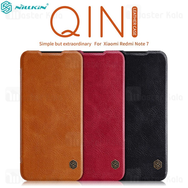 کیف چرمی نیلکین شیائومی Xiaomi Redmi Note 7 / Note 7 Pro Nillkin Qin Leather Case