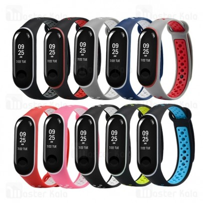 بند سیلیکونی طرح نایکی دستبند سلامتی شیائومی Mi Band 3 Ventilate Nike