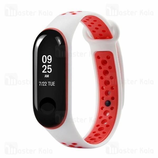 بند سیلیکونی طرح نایکی دستبند سلامتی شیائومی Mi Band 3 / Mi Band 4 Ventilate Nike