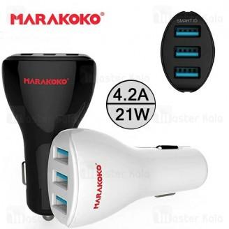 شارژر فندکی 3 پورت ماراکوکو Marakoko MAC2 Car Charger با توان 4.2 آمپر