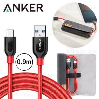 کابل Type C انکر Anker A8168 Power Line Plus طول 0.9 متر به همراه کیف