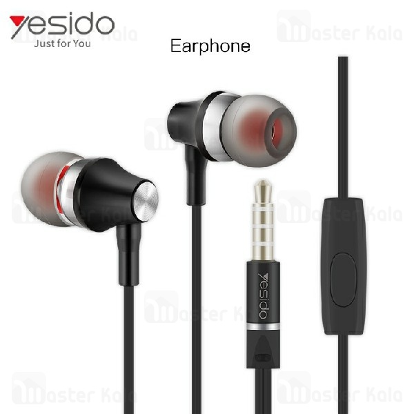 هندزفری سیمی یسیدو Yesido YH08 Wired Earphone ساختار تو گوشی