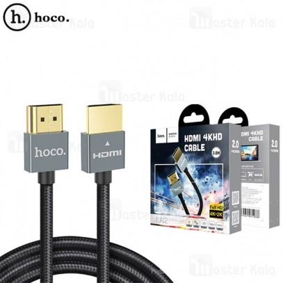 کابل HDMI هوکو Hoco UA12 HDMI V2.0 کنفی و طول 3 متر