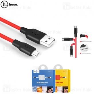 کابل میکرو یو اس بی هوکو Hoco X21 Silicone Cable توان 2 آمپر و بدنه سیلیکونی