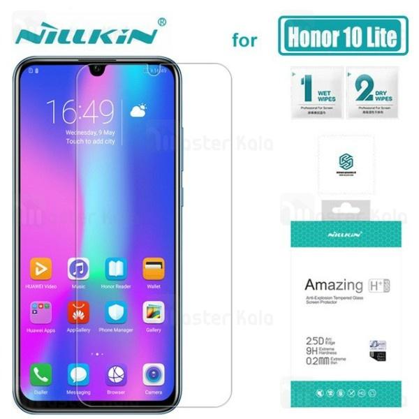 محافظ صفحه شیشه ای نیلکین هواوی Huawei Honor 10 Lite / P Smart 2019 Nillkin H+ Pro + محافظ لنز