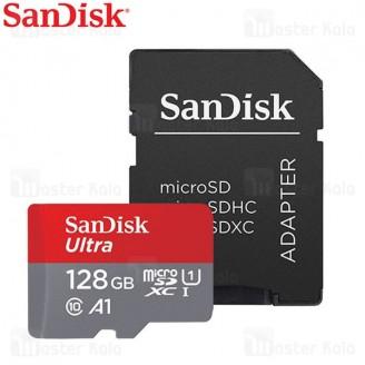 کارت حافظه میکرو اس دی 128 گیگابایت Sandisk 667x 100MBs A1 UHS-I