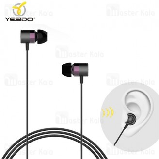 هندزفری سیمی یسیدو Yesido YH10 Earphone ساختار تو گوشی