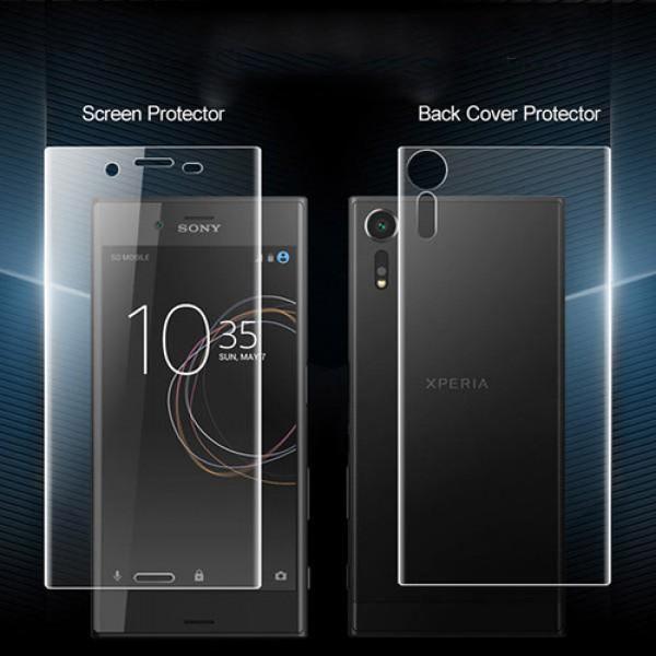 محافظ نانو تمام صفحه پشت و رو مناسب Sony Xperia XZ1 2 in 1 Protector