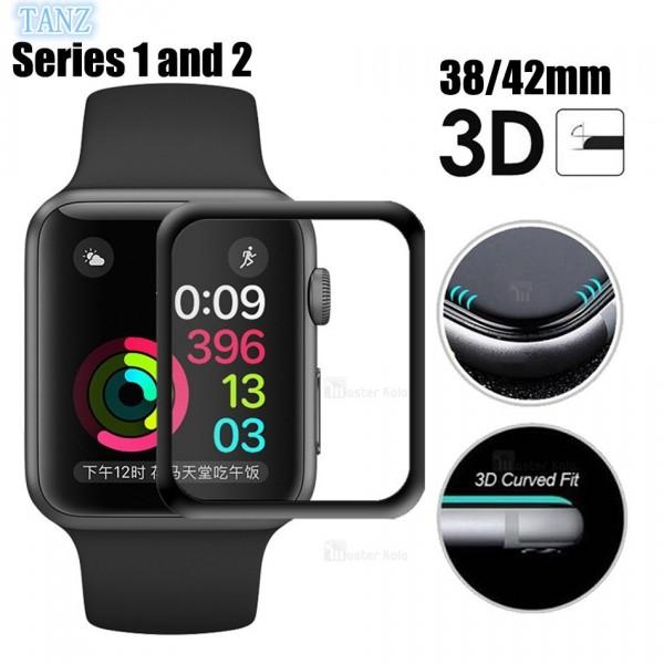 محافظ صفحه شیشه ای تمام صفحه دور TPU اپل واچ 38 میلیمتری Apple Watch Series 2