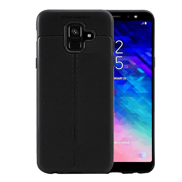 قاب محافظ ژله ای طرح چرم Samsung Galaxy A6 2018 مدل Auto Focus