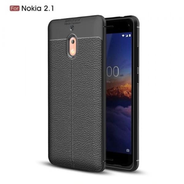 قاب محافظ ژله ای طرح چرم Nokia 2.1 2018 مدل Auto Focus
