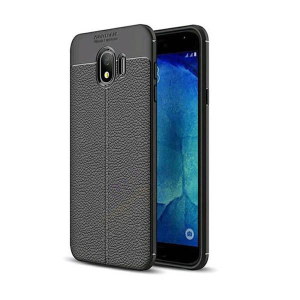 قاب محافظ ژله ای طرح چرم Samsung Galaxy J4 2018 مدل Auto Focus