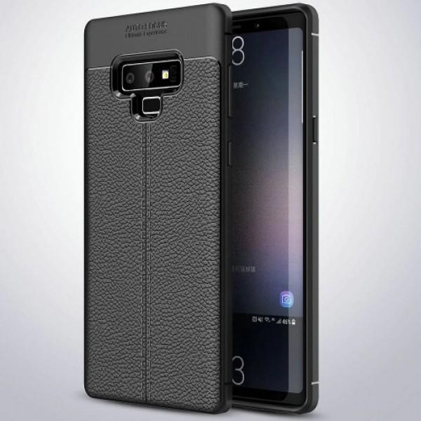 قاب محافظ ژله ای طرح چرم Samsung Galaxy Note 9 مدل Auto Focus
