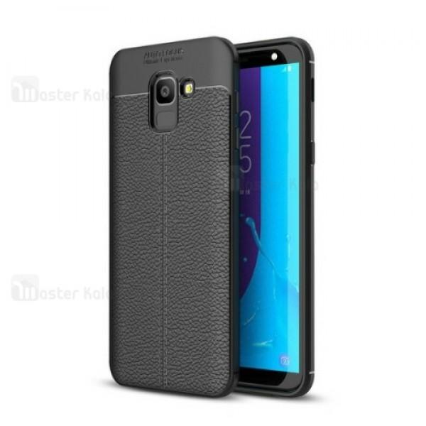 قاب محافظ ژله ای طرح چرم Samsung Galaxy J6 2018 مدل Auto Focus