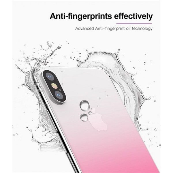 محافظ شیشه ای رنگی پشت گوشی Baseus Coloring مناسب Apple iPhone X/Xs