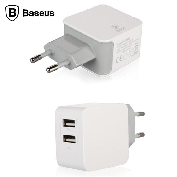 آداپتور شارژر دو پورت 3.1 آمپر بیسوس Baseus Fondroid Dual USB