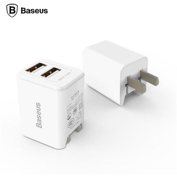 شارژر دیواری 2 پورت بیسوس Baseus Traveler Dual USB Charger