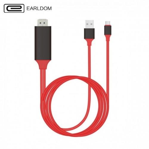 کابل HDMI تایپ سی اتصال تلویزیون و نمایشگر(کابل Type C به HDTV) انتقال تصویر و شارژ Earldom ET-WS8C...
