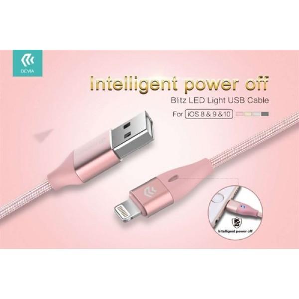 کابل لایتنینگ Devia Blitz Led Lightning USB Cable