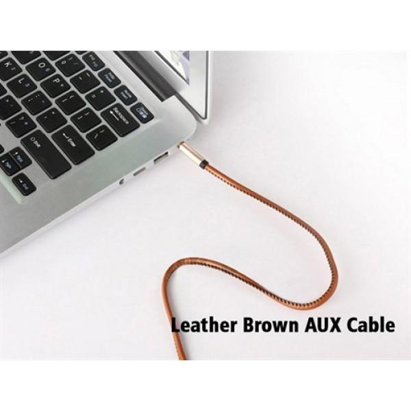 کابل انتقال صدا ارلدوم Earldom ET-AUX20 Leather Brown Audio Cable