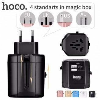 آداپتور دو پورت و مبدل برق چندکاره هوکو Hoco AC3 Universal Convertible