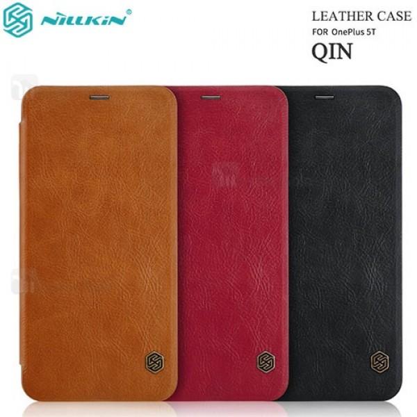 کیف چرمی نیلکین وان پلاس OnePlus 5T Nillkin Qin Leather Case