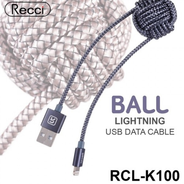 کابل لایتنینگ رسی Recci RCL-K100 BALL Lightning Cable