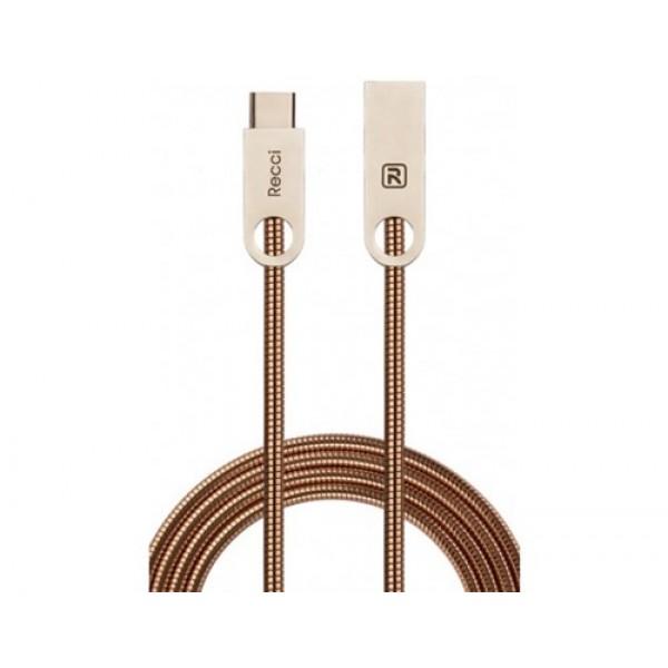 کابل Type C رسی Recci RCT-C100 VAJRA Type-C Cable