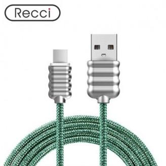 کابل Type C رسی Recci RCT-L100 Ripple Type-C Cable