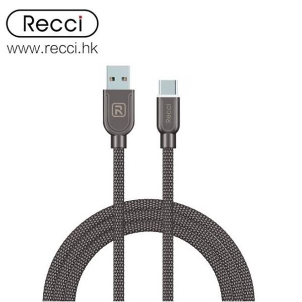 کابل Type C رسی Recci RCT-T100 ARMOR Type-C Cable