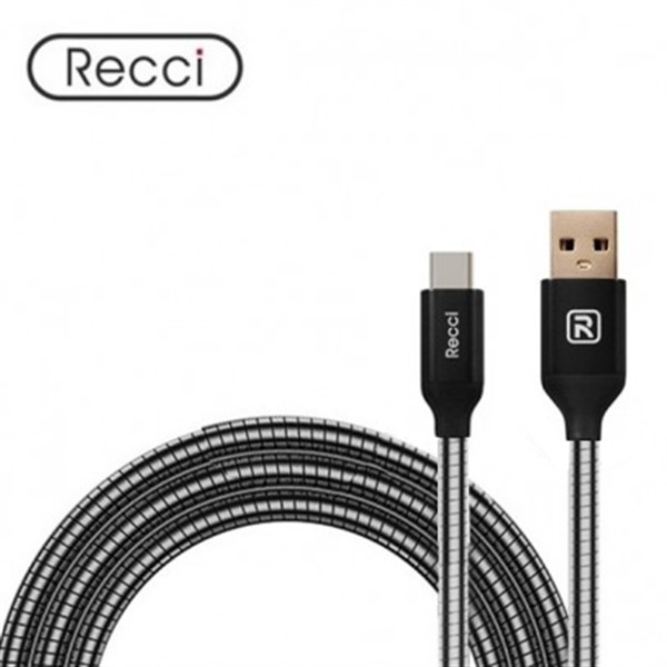 کابل Type C رسی Recci RCT-W100 GRAVEL Type-C Cable
