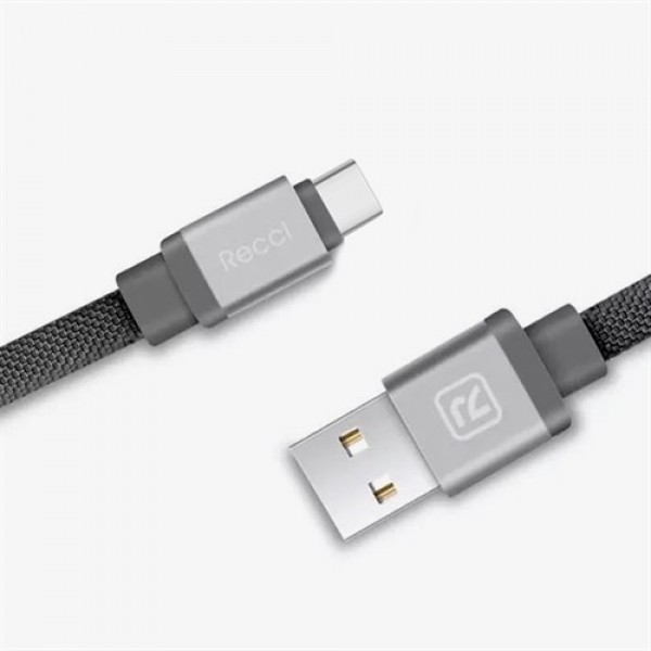 کابل Type C رسی Recci RCT-Y100 Canvas Type-C Cable