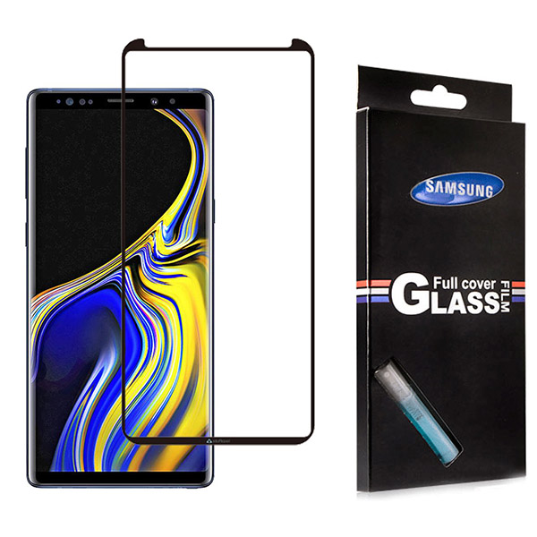 محافظ صفحه نمایش شیشه ای تمام صفحه و خمیده مارک TT تمام چسب Samsung Galaxy Note 9