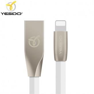 کابل شارژ فلت لایتنینگ یسیدو Yesido CA-01 Lightning Data Cable