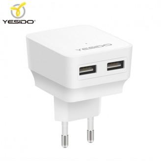 آداپتور شارژر دو پورت 2.4 آمپر یسیدو Yesido YC02 Travel Double USB