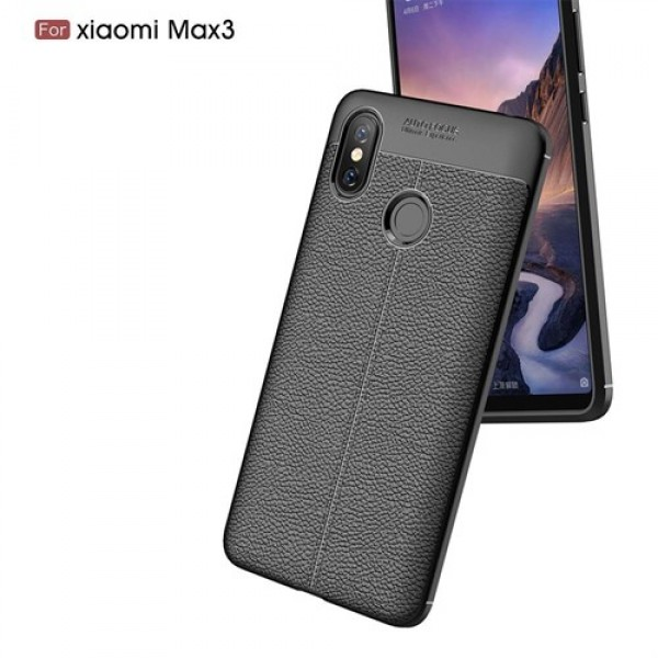 قاب محافظ ژله ای طرح چرم Xiaomi Mi Max 3 مدل Auto Focus