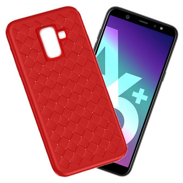 قاب طرح چرم و حصیری W.S Weaving مناسب Samsung Galaxy A6+ 2018 / A9 Star Lite