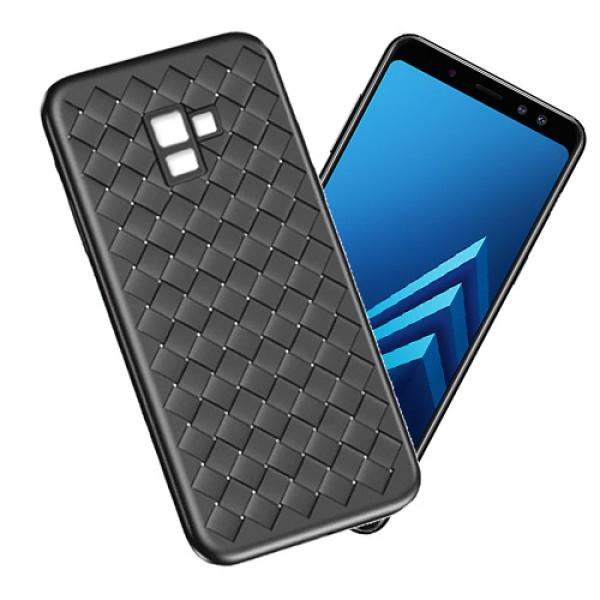 قاب طرح چرم و حصیری W.S Weaving مناسب Samsung Galaxy A8+ 2018 / A730F