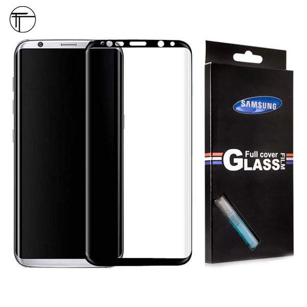 محافظ شیشه ای تمام صفحه و خمیده تمام چسب TT سامسونگ Samsung Galaxy S8 Plus