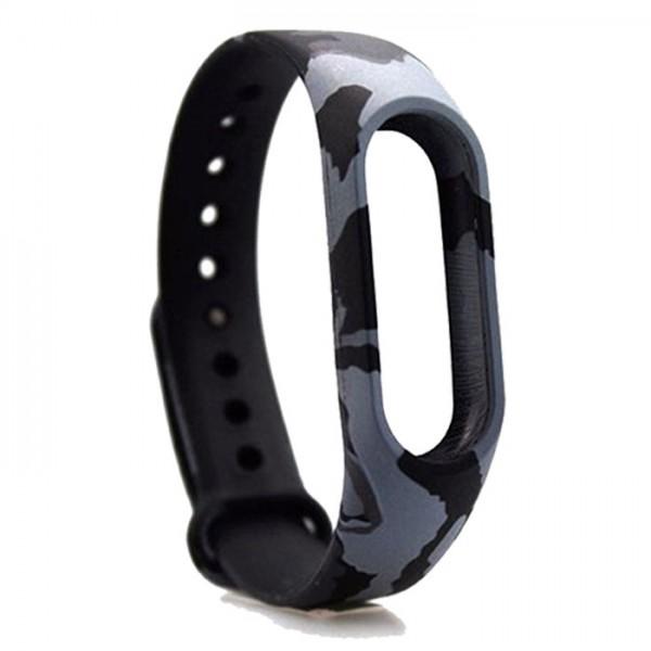 بند سیلیکونی ارتشی دستبند هوشمند شیائومی Mi Band 3 Silicone