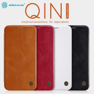 کیف چرمی نیلکین آیفون Apple iPhone XS Max Nillkin Qin Leather Case