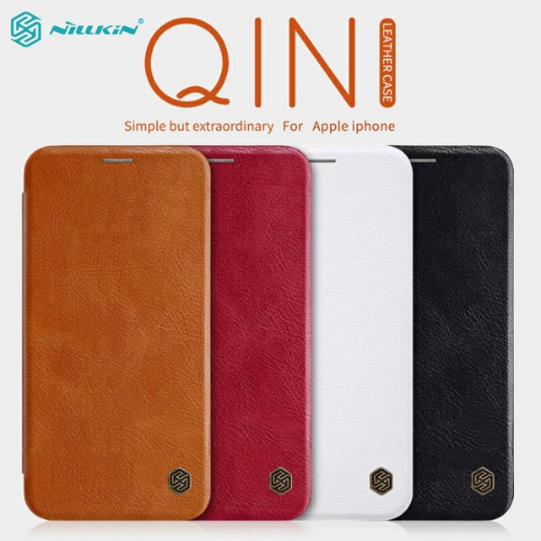 کیف چرمی نیلکین آیفون Apple iPhone XS Max Nillkin Qin Leather Case