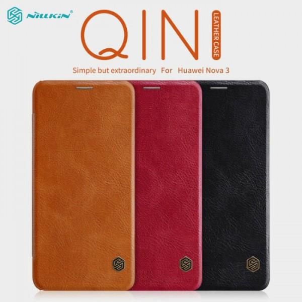 کیف چرمی نیلکین مدل Qin مناسب Huawei Nova 3