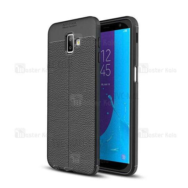 قاب محافظ ژله ای طرح چرم Samsung Galaxy J6 Plus مدل Auto Focus
