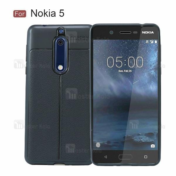قاب محافظ ژله ای طرح چرم Nokia 5 مدل Auto Focus
