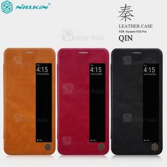 کیف چرمی هوشمند نیلکین مدل Qin مناسب Huawei P20 Pro