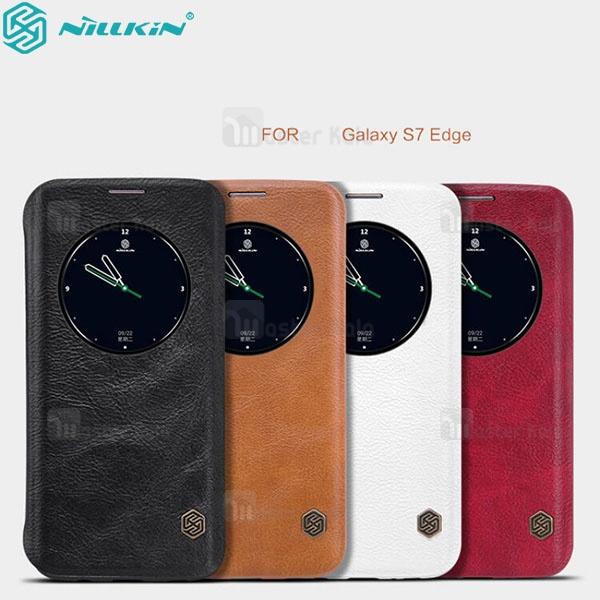 کیف چرمی هوشمند نیلکین مدل Qin مناسب Samsung Galaxy S7 Edge / G935