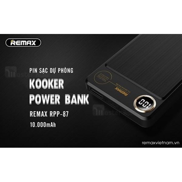 پاوربانک 10000 میلی آمپر ریمکس Remax RPP-87 Kooker